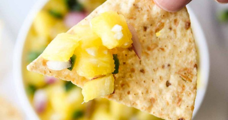 Pineapple Poblano Pepper Salsa
