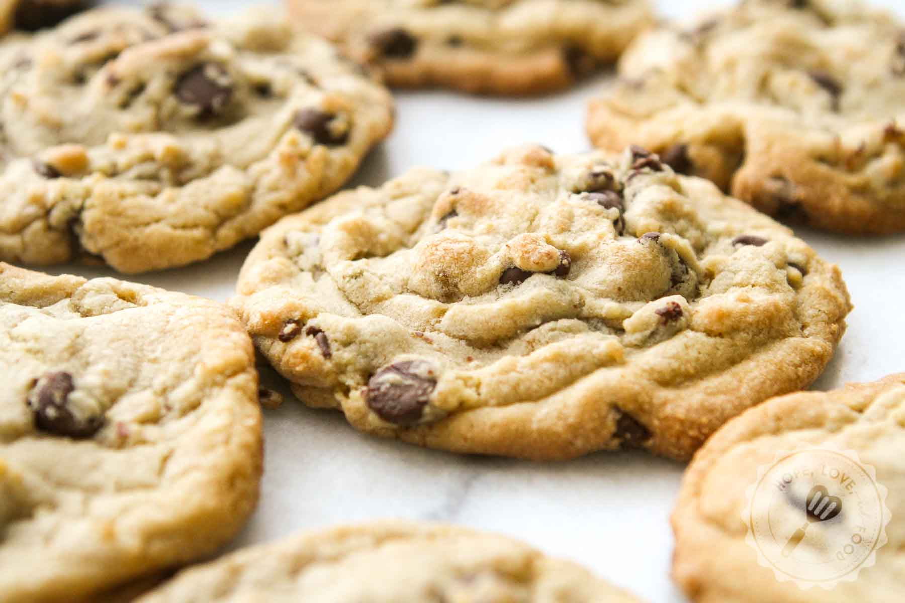 Traditional chocolate chip cookies.