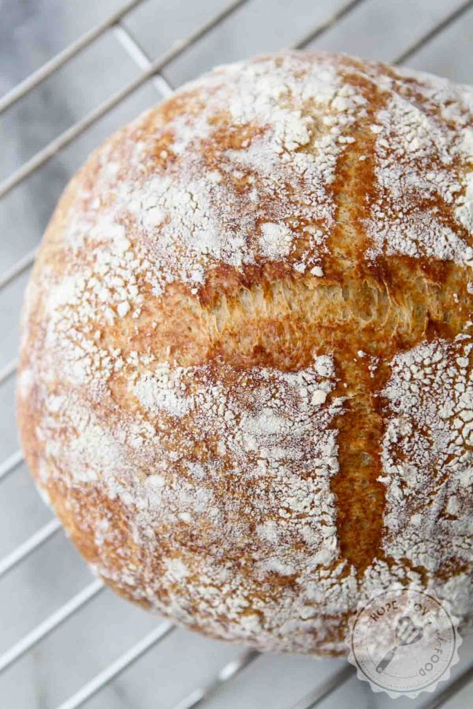 Honey sourdough bread.